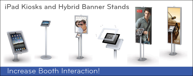 iPad Kiosks and Banner Stands